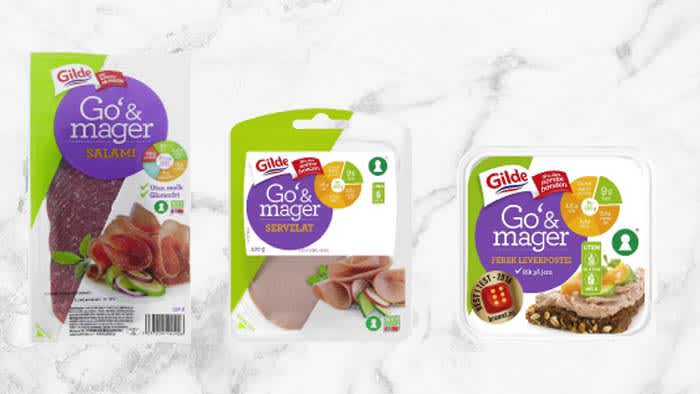 Alt kjøttpålegget fra Gilde Go' & mager er nøkkelhullmerket og inneholder maks ni prosent fett.