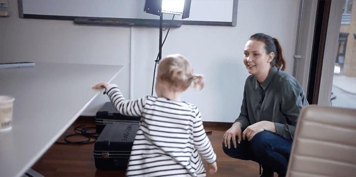 LilleGo´s produktansvarlig Pernille Løvås har brukt datteren som prøvekanin i utviklingen av LilleGo´-bleiene.