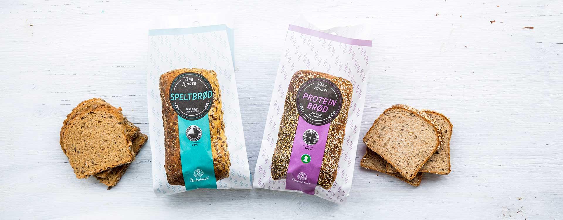 I serien Våre minste brød får du følgende: Proteinbrød, Speltbrød, Seterbrød, Skogsbrød, Åkerbrød og Engloff.