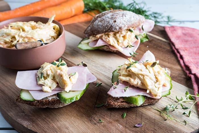 Vita hjertego' italiensk salat fås kjøpt i alle KIWI-butikker. Det samme gjør du med rekesalaten. Foto: Vita hjertego'