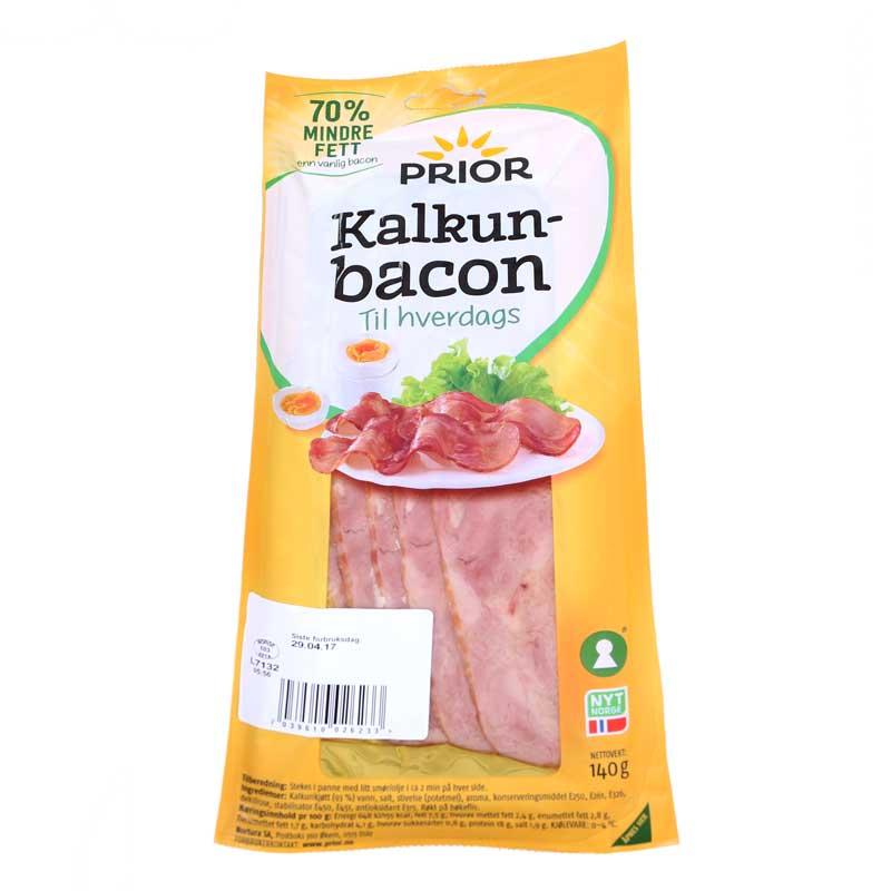 Prior Kalkunbacon til hverdags.