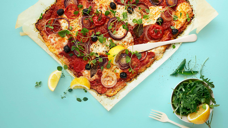 Blomkålpizza - denne bør prøves!