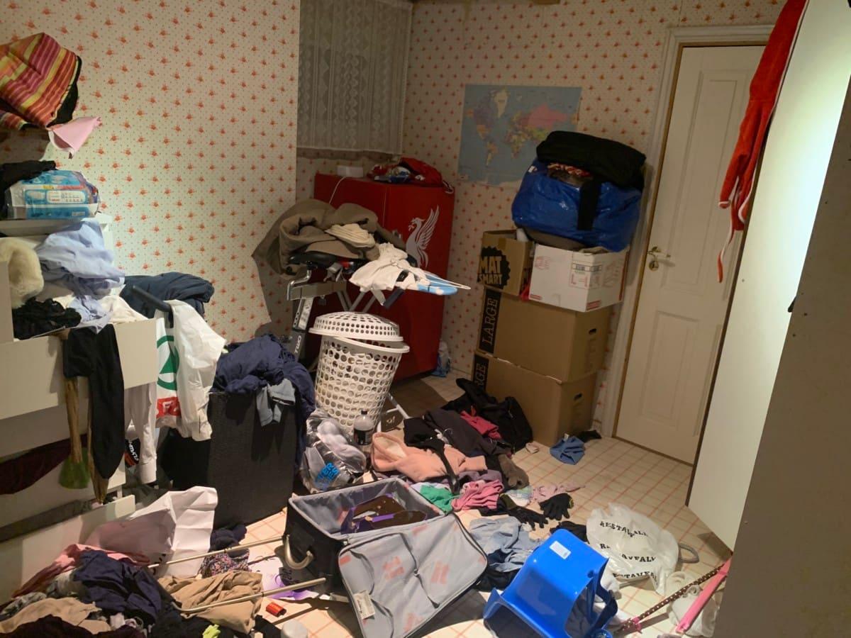 Familien Husby-Sørensen har faktisk sitt eget treningsrom i huset. Det ser slik ut. (Foto: Supporterfrue.blogg.no)