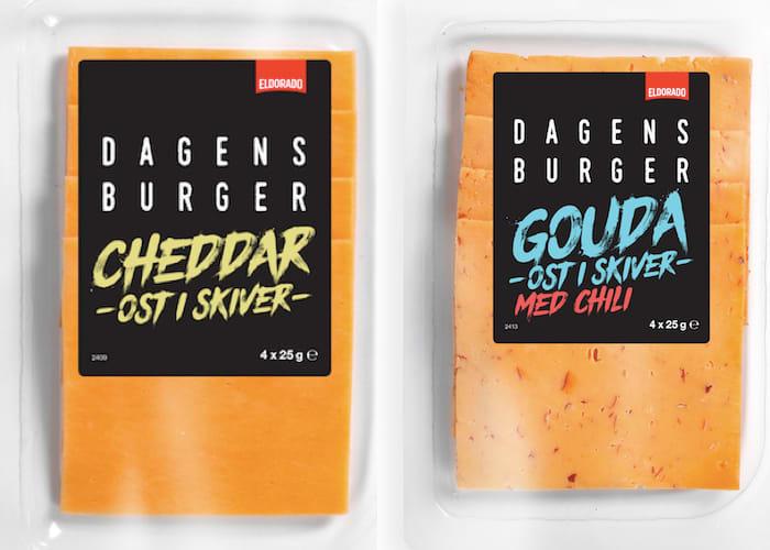 Disse ostene er midt i blinken hvis du ønsker å gjøre hamburgeren til en cheeseburger.
