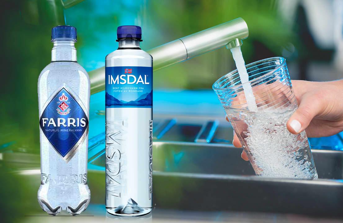 Det er en forskjell på mineralvann, kildevann og springvann.