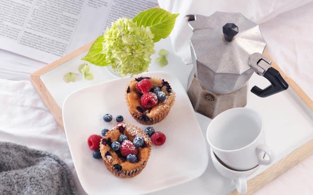 Grøtmuffins passer perfekt når du har lyst på noe ekstra godt i nisteboksen. Foto: Fjordland.no