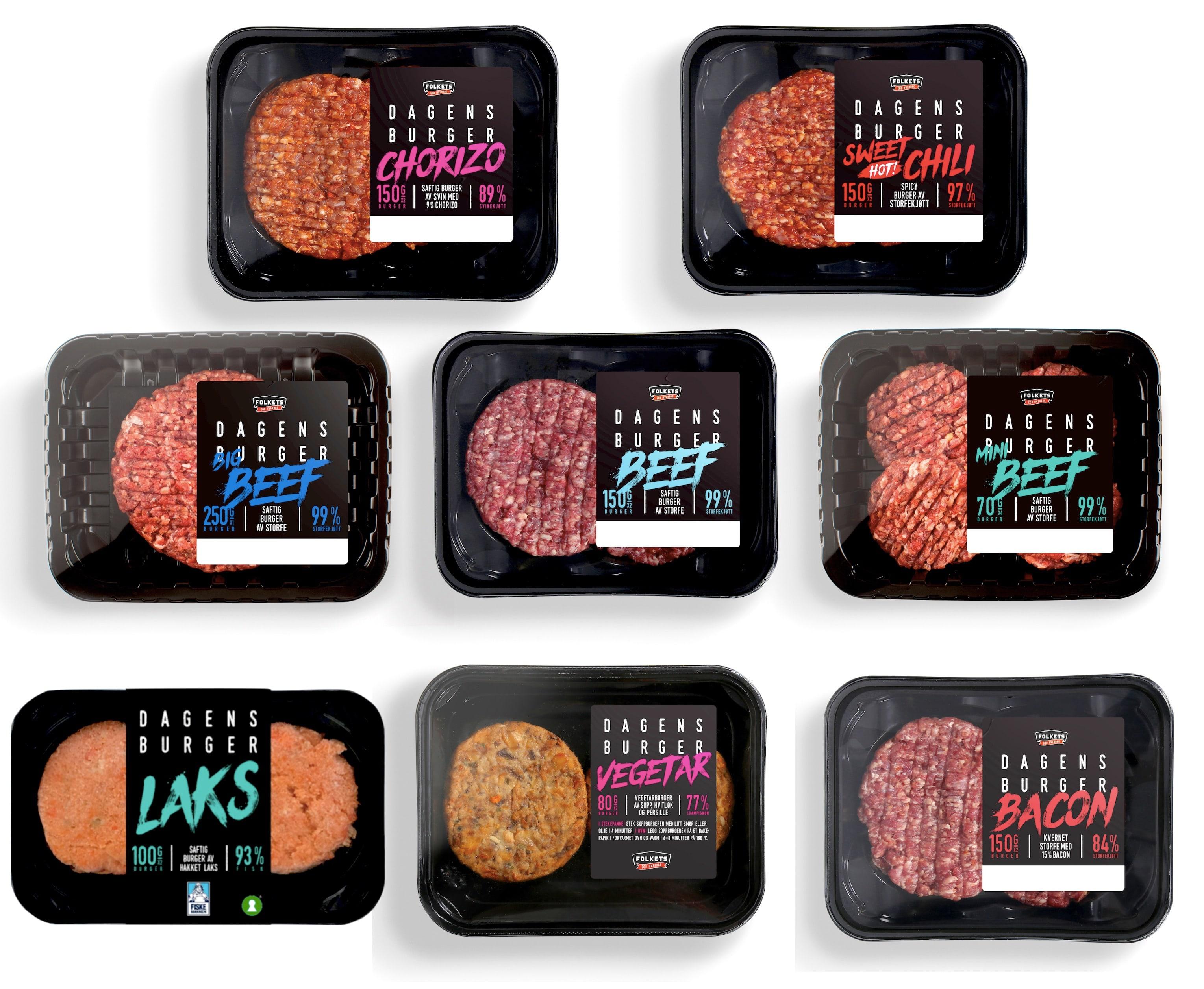 I din KIWI-butikk finner du flere varianter fra «Dagens burger» til enhver anledning.