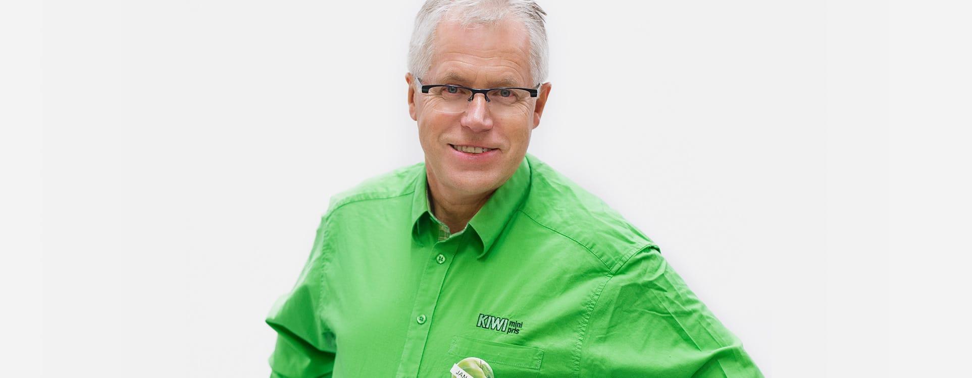 KIWI-sjef Jan Paul Bjørkøy sier at førsteplassen er en tillitserklæring fra kundene.