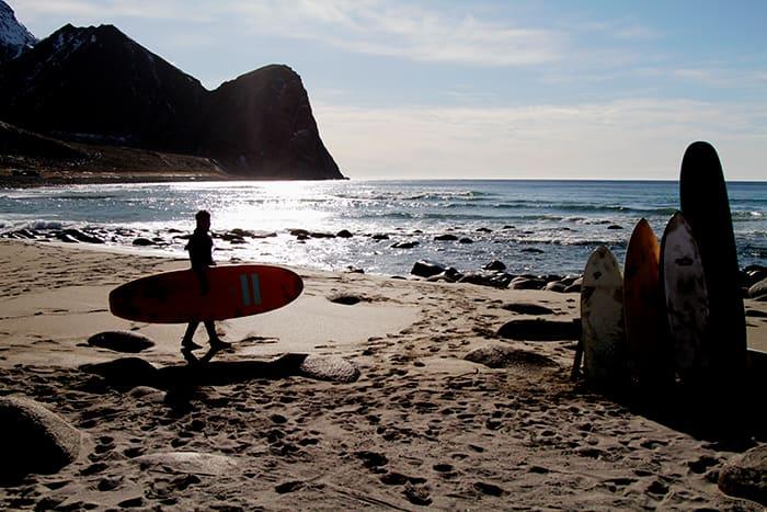 Unstadstranden er en av Norges aller fineste surfestrender.