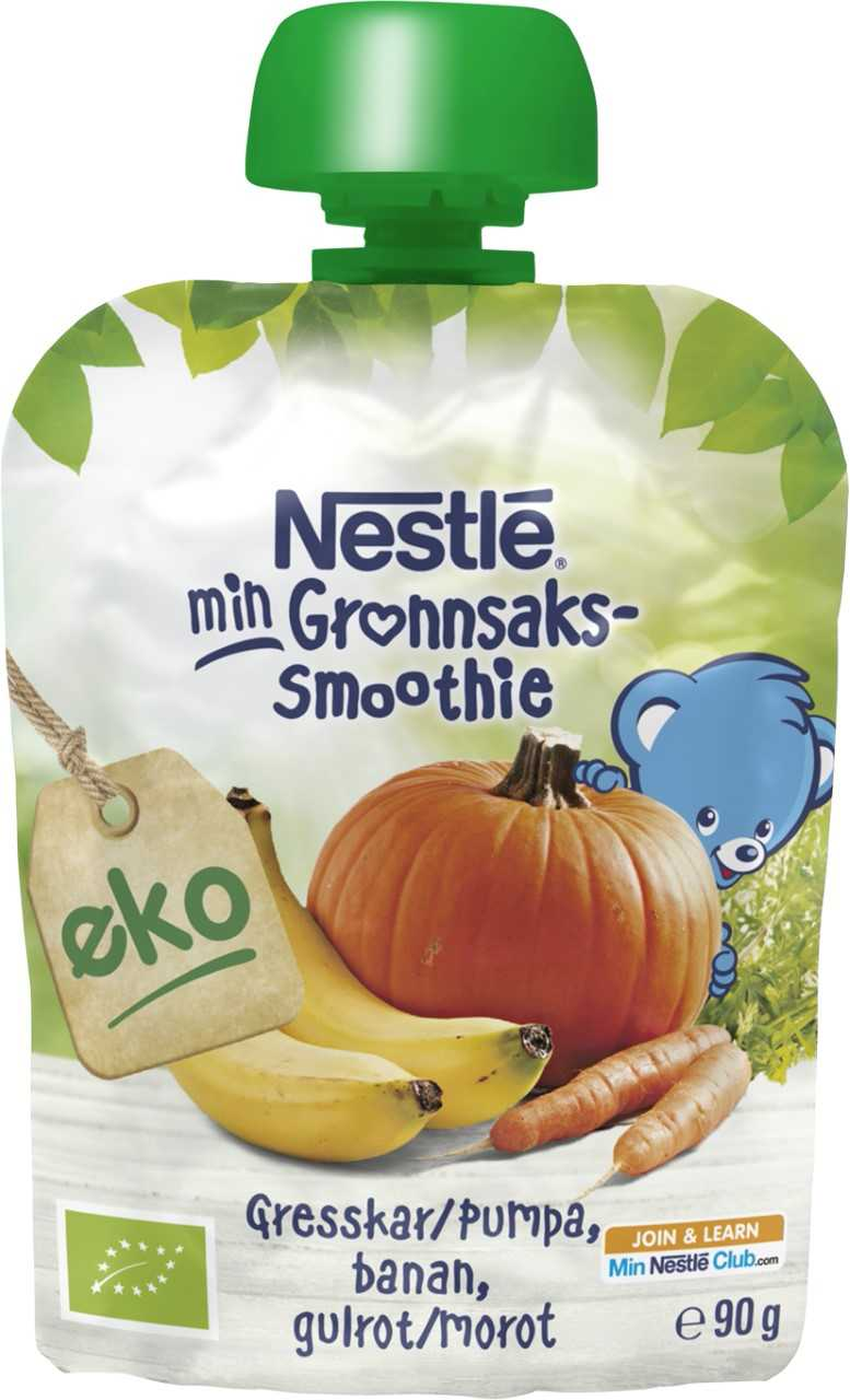 NYHET: Nestlé barnemat med nye smaker.