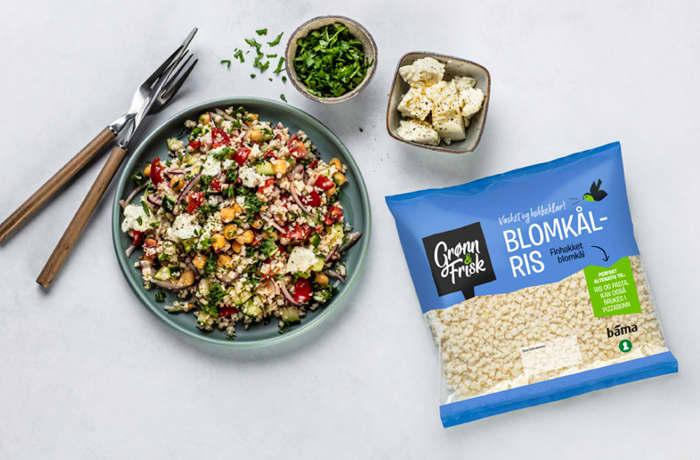 Blomkålris er ferdig, finkuttet blomkål, og er den perfekte erstatningen for ris og pasta.