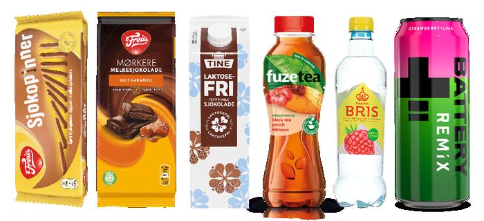 TINE laktosefri sjokolademelk og Freia mørkere melkesjokolade med salt karamell er to spennende nyheter du finner i et stort utvalg KIWI-butikker.