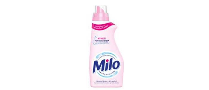 Den nye Miloflasken er mindre, men har likevel flere doseringer enn den gamle. Her spares altså både miljøet og plassen på vaskerommet.