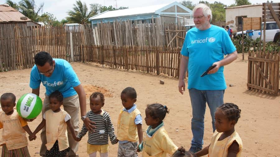 KIWI-grunnlegger Tor Kirkeng forteller at UNICEF-samarbeidet betyr mye for ham.