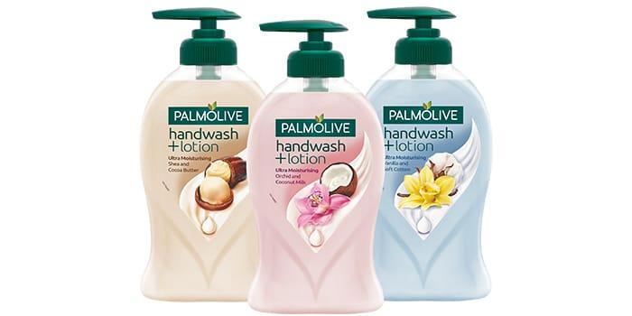 Palmolive handwash + lotion.