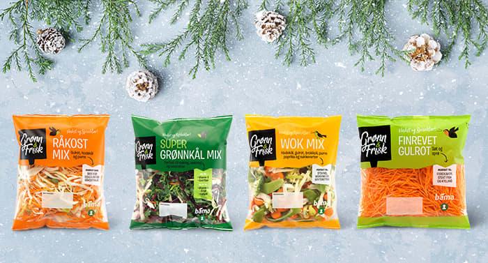 Mange av de uperfekte grønnsakene blir ingredienser i Grønn & Frisk-serien til BAMA