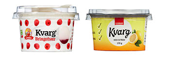 Eldorado kvarg finnes i alle butikker, Synnøve kvarg i utvalgte KIWI.