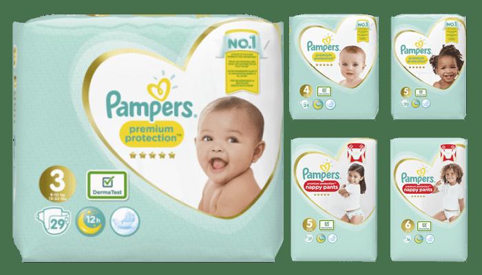 Pampers Premium protection er en helt ny bleieserie hos KIWI. Buksebleiene/pants finner du i utvalgte butikker.
