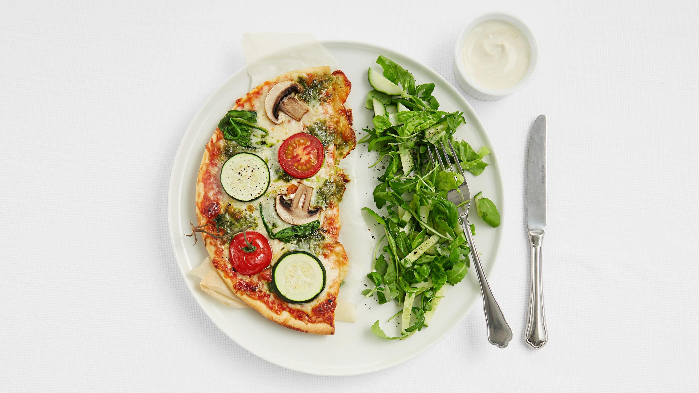 Kjapt tips: Litt sunnere frossenpizza på 1-2-3