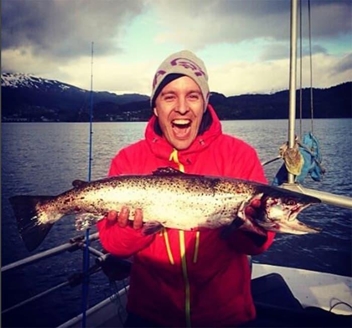 Snakk om fiskeglede! What a catch. FOTO: @hildegunnulv
