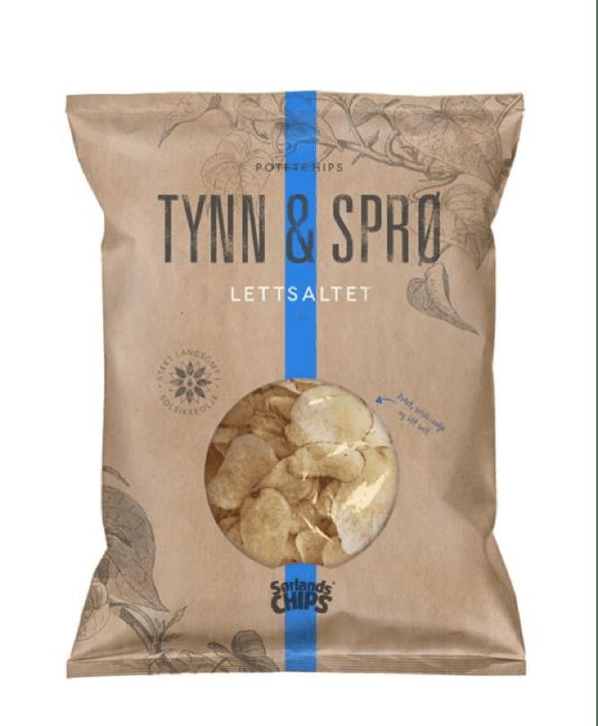 Tynn & Sprø chips med havsalt.