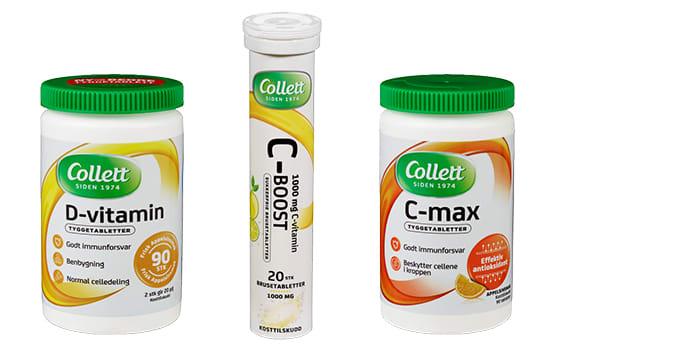 Vitaminer som kan tygges eller løses opp i vann.