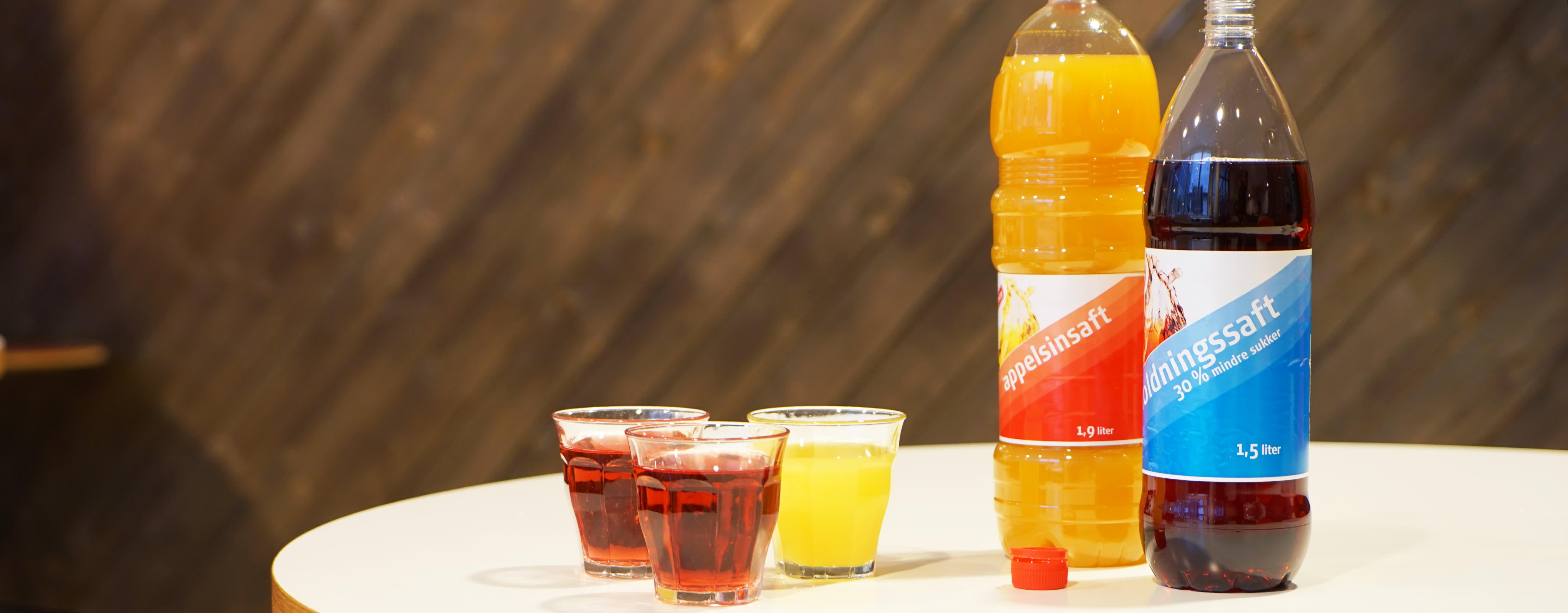 Den sukkerreduserte saften kan spare en saftdrikkende familie for hele 2000 sukkerbiter i året.