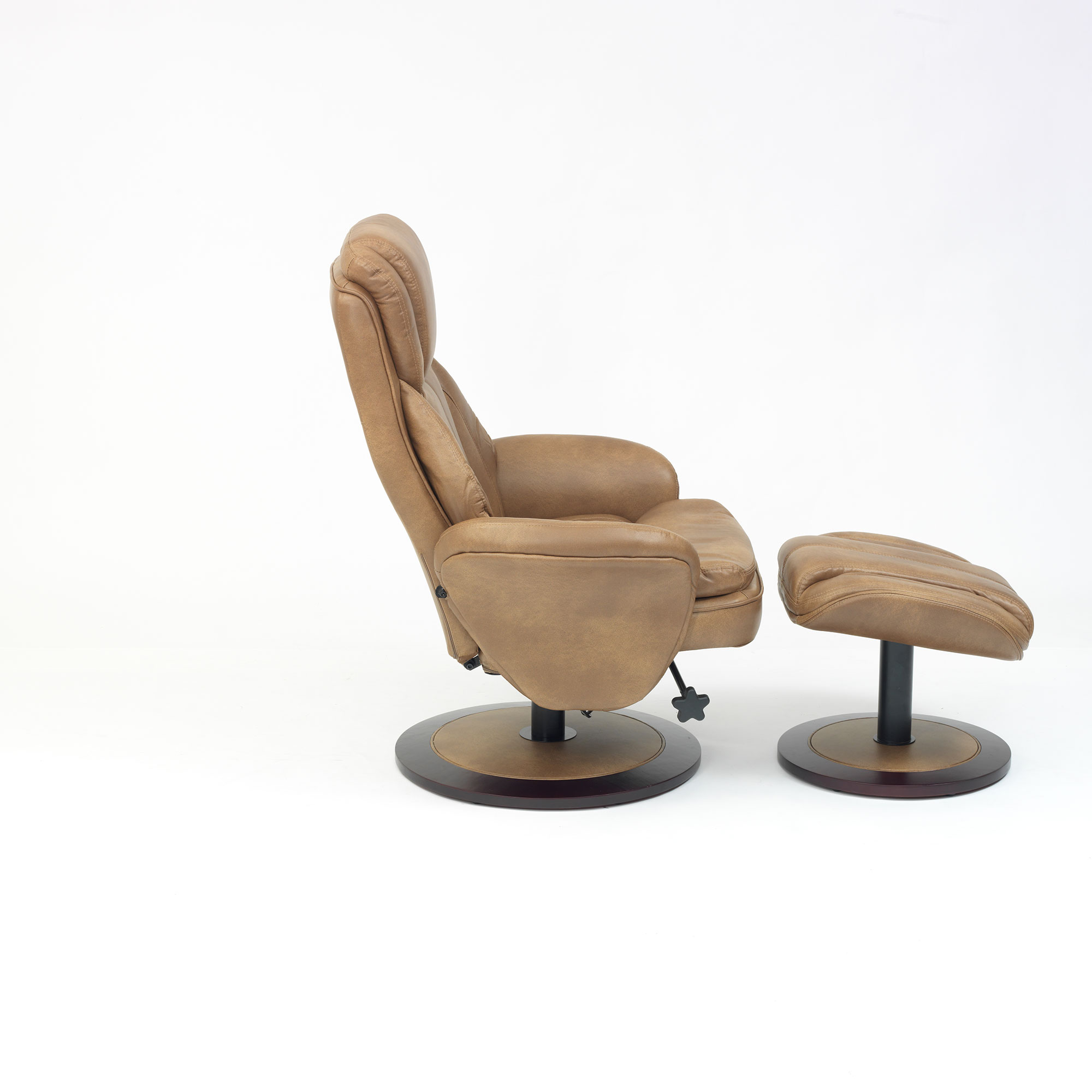 Florence swivel recline chair with free foot stool all colours ebay - Swivel feet for chairs ...