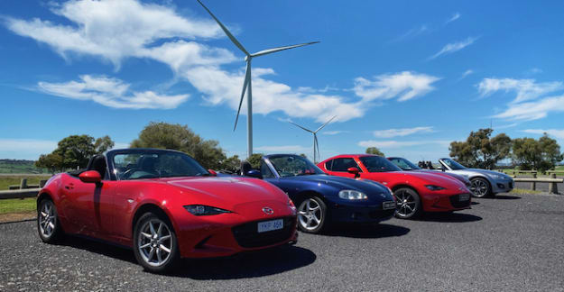 MX-5s and windmills