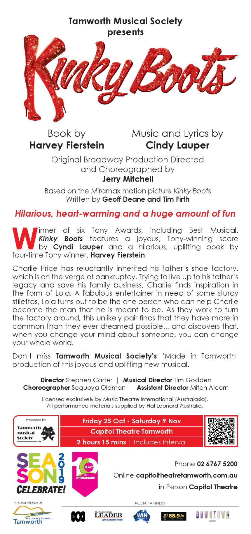 Kinky Boots Flyer BAck