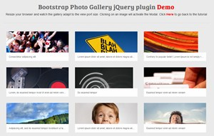 Responsive Photo Gallery with jQuery & Bootstrap