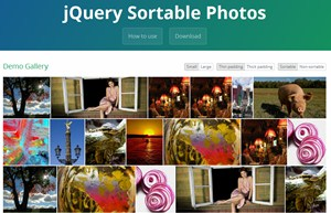 jQuery Sortable Photos
