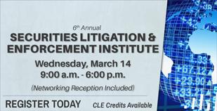 Securities Litigation & Enforcement Institute 2018 - 309x158