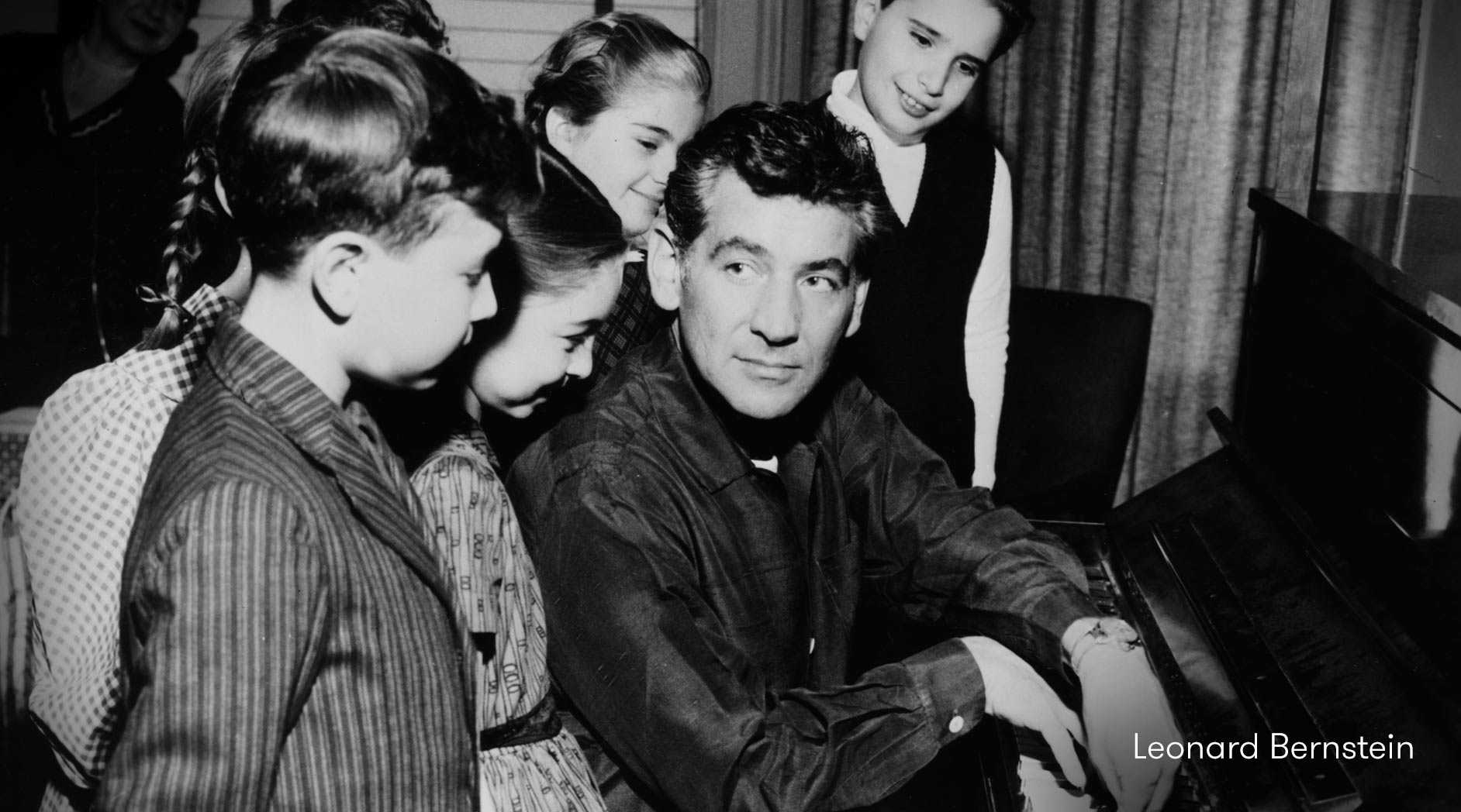 Leonard Bernstein and children