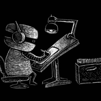 Music to Draw to with Kid Koala on the decks