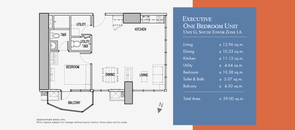 Executive One Bedroom Unit