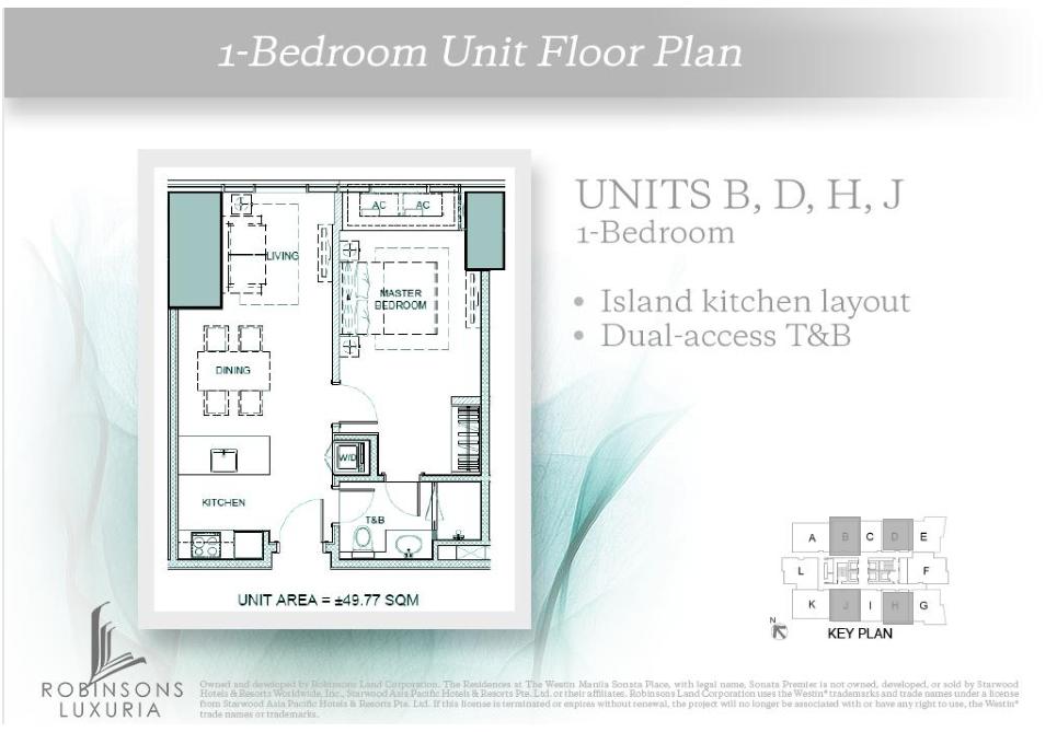 1-Bedroom Unit Floor Plan