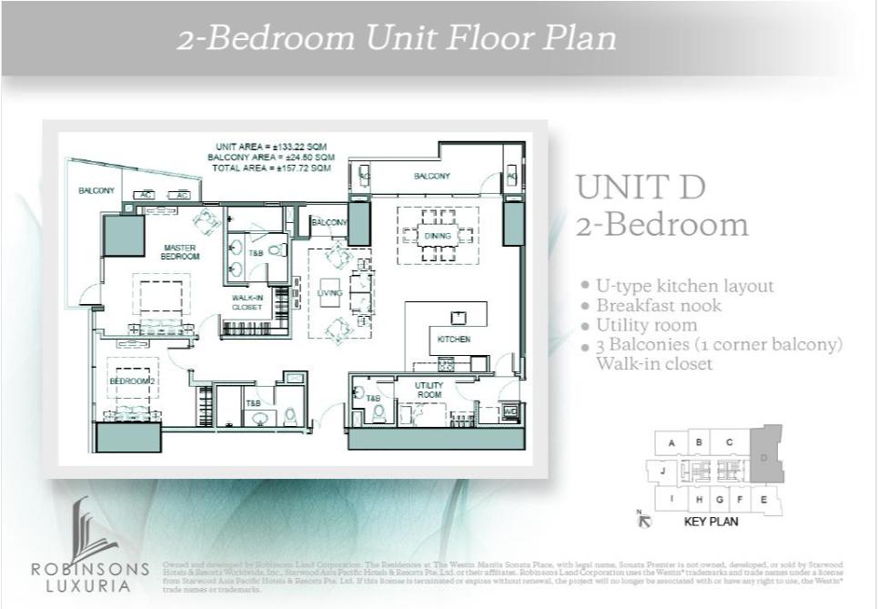 2-Bedroom Unit Floor Plan