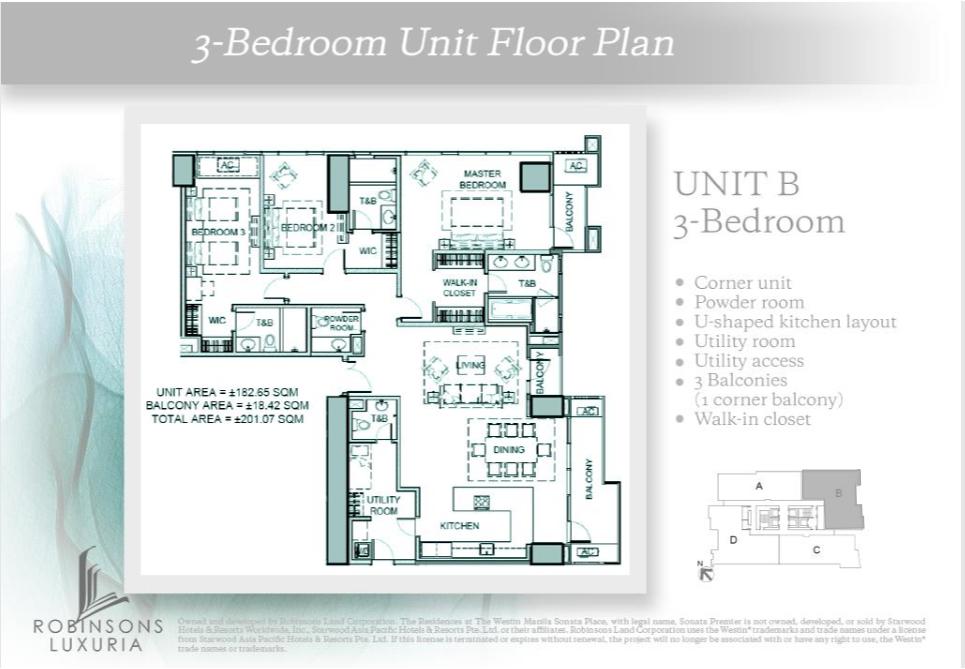 3-Bedroom Unit Floor Plan