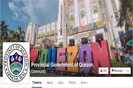Facebook Page of Provincial Government of Quezon