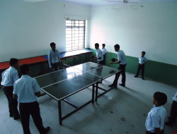 Student's At Tennis Court