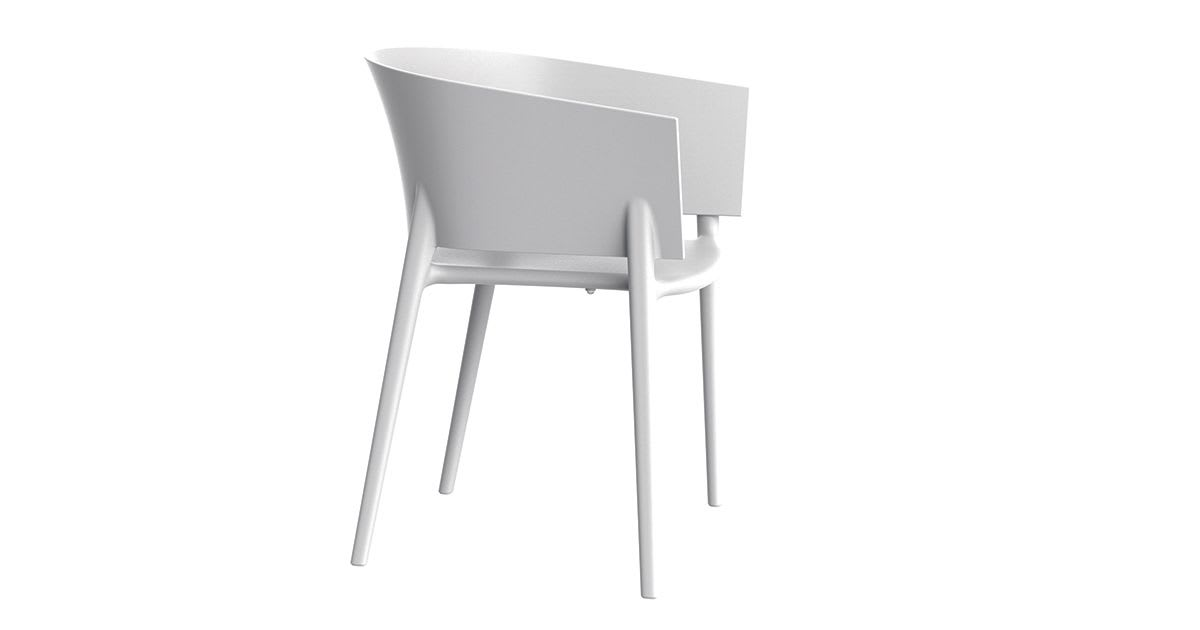 Fauteuil Africa blanc