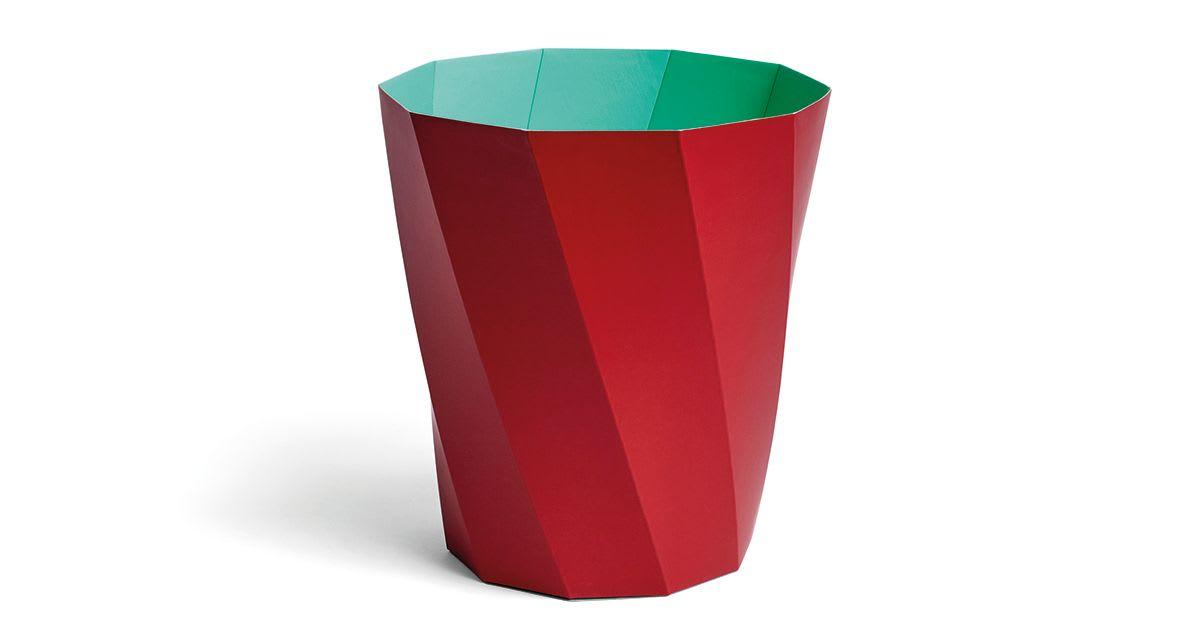 Poubelle à papier Paper - rouge sombre