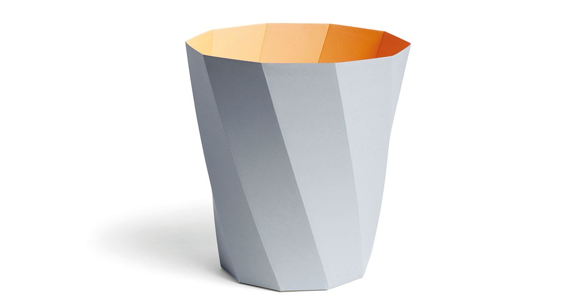 Poubelle à papier Paper - gris doux