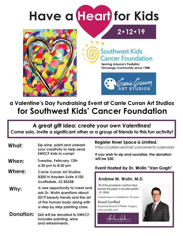 Have a Heart for Kids: a Valentine's Day Fundraising Event for Southwest Kids' Cancer Foundation Flyer