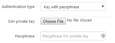 Key with passphrase