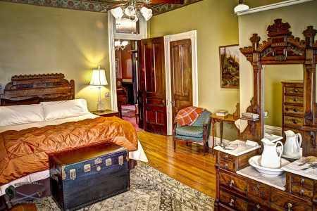 Twelfth Night guest room bed