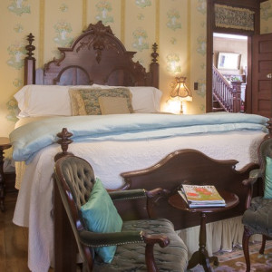 Mr Wrights original bed in the bed and breakfast