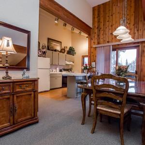 Executive suite kitchen & dining area
