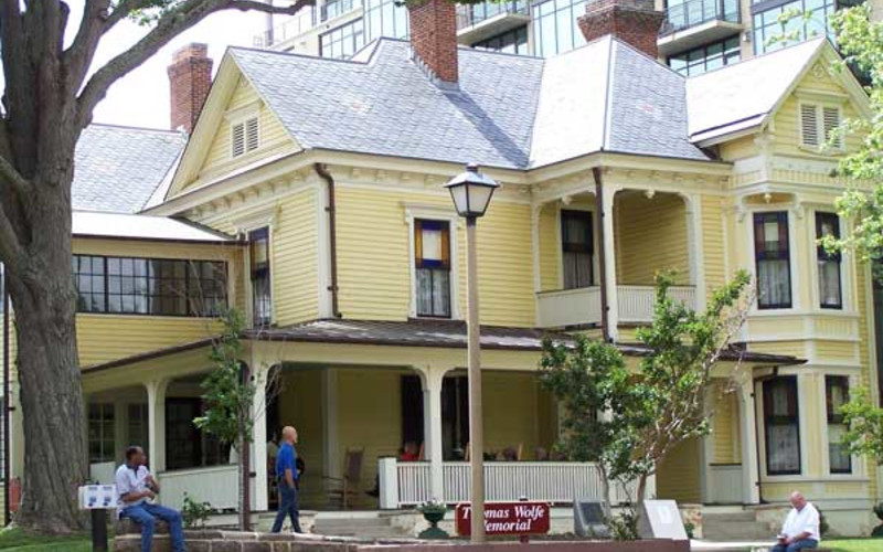 Gimcrack Day at Asheville's Thomas Wolfe Museum (His mothers bed and breakfast)